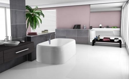 Lyxigt modernt badrum