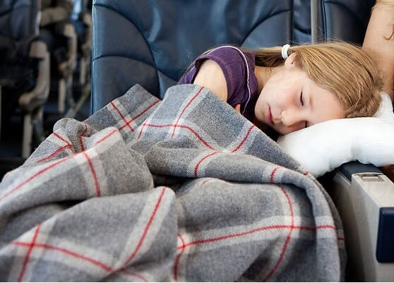 Sova på flyplan